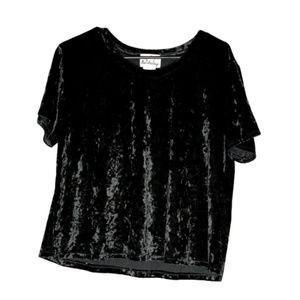 Madison & Berkeley Black Velvet Crop Top size LG
